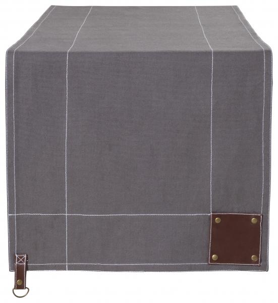 Canvas Tischläufer - 130 x 40 - silbergrau | 652 14 EXNER