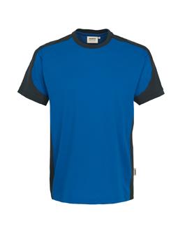 Herrenshirt in Royalblau mit Kontrastensatz