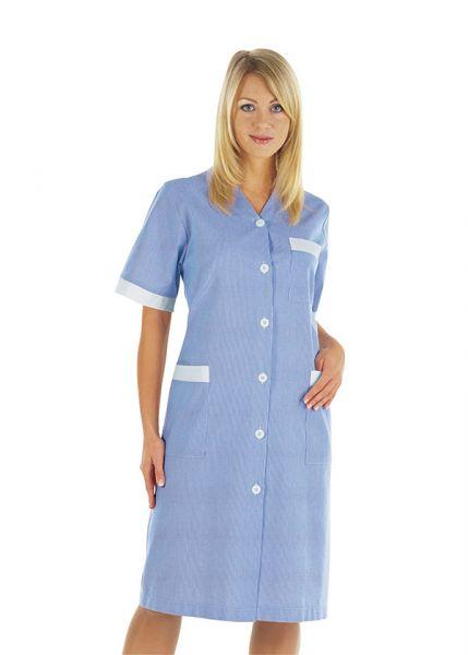 isacco Zimmermädchenkleid Michelle kurzarm in blau
