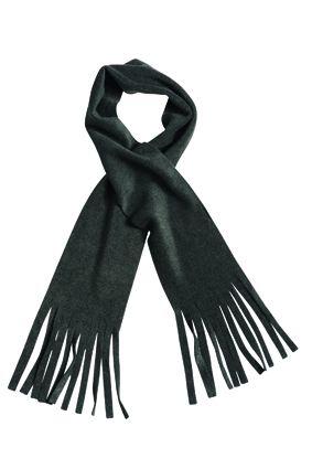 klassischer Fleece Schal dunkelgrau