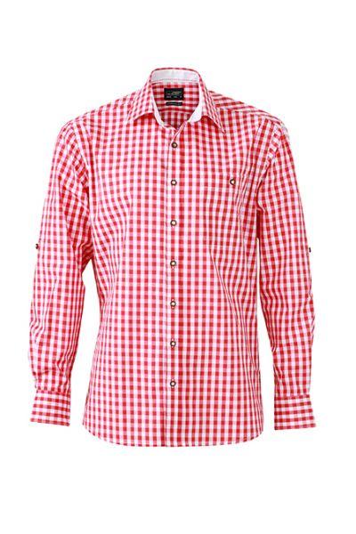Herren Hemd red-white Tradition Daiber