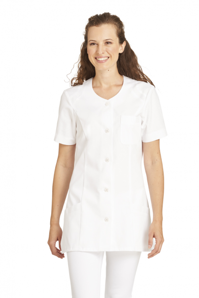 Hosenkasack Damen in Weiß mit Kurzarm