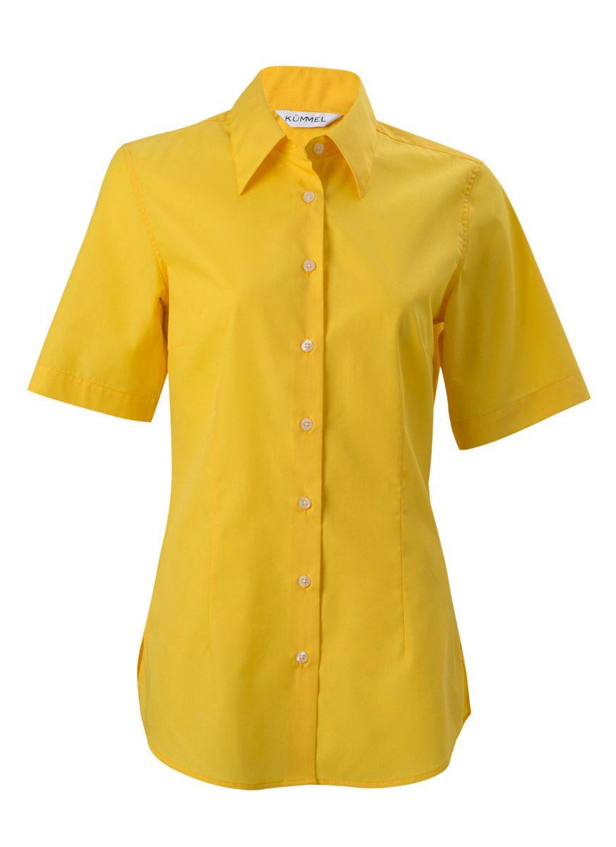 32ad7734264e6b Damen-Bluse - Kate - gelb - kurzarm   Hemden & Blusen   Produkte   -  Hotel-Uniform.de by Konfektion in Perfektion