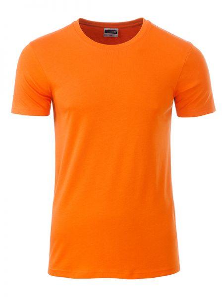 Herren Shirt orange Bio-Baumwolle Tradition Daiber