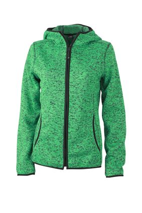 Damen Fleece Hoody green-melange Tradition Daiber