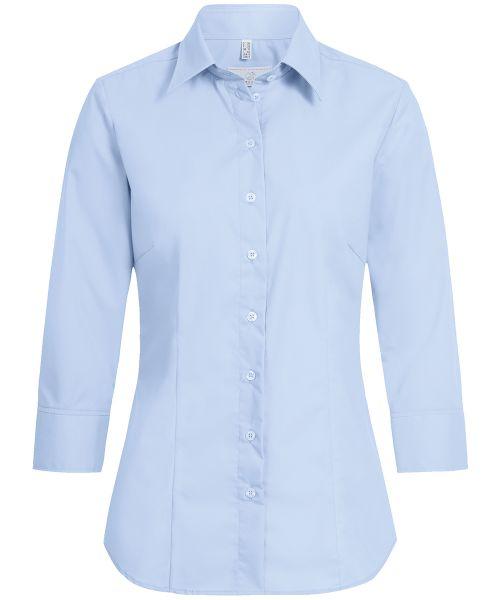Strapazierfähige Damen Bluse regular fit 3/4-Arm Kent-Kragen | GREIFF Basic 6517
