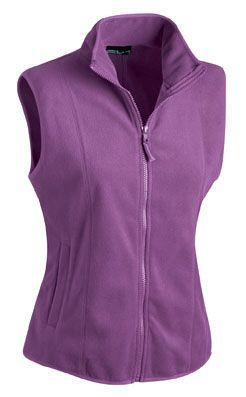 Damen Fleece Weste - purple