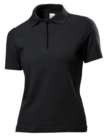 Damen Poloshirt schwarz - Stedman®