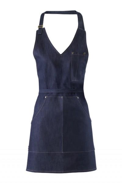 GREIFF - style 4411 Damen Latzschürze 77x65 blue denim Jeansschürze