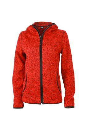 Damen Fleece Hoody red-melange Tradition Daiber