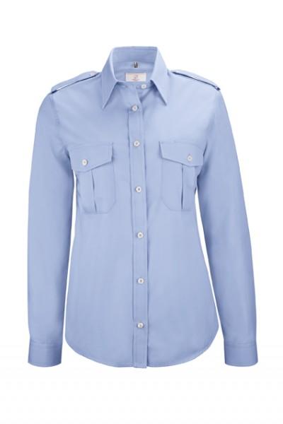 GREIFF basic - style 6657 Damen Pilothemd langarm comfort fit in weiß | bleu - comfort fit