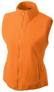 Damen Fleece Weste - orange