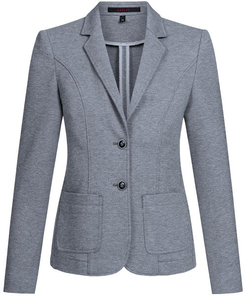 Business Damen Jerseyblazer regular fit grau meliert | GREIFF Casual 1437
