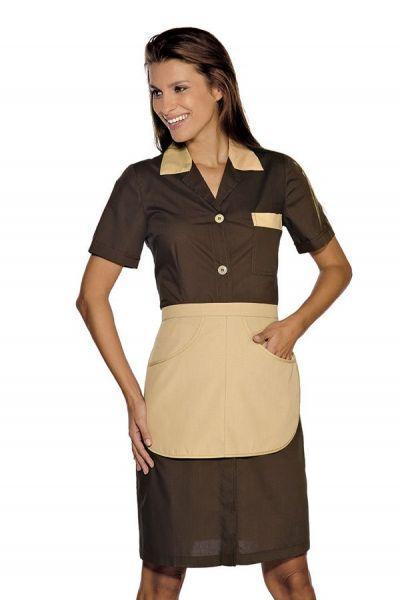 Zimmermädchenkleid braun mit Schürze Positano isacco