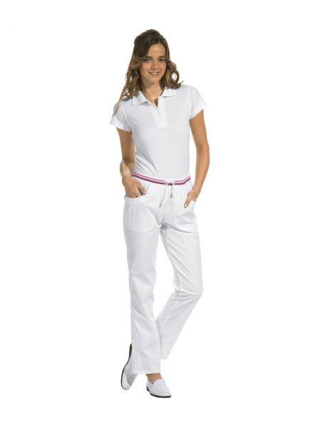 LEiBER classic style Damenhose weiß mit Kordel 08-6751 lange Größe