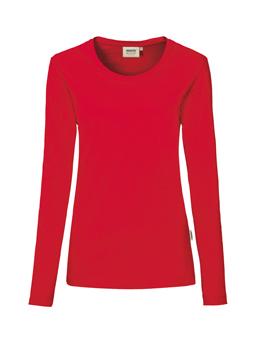 Damen Shirt langarm in Rot