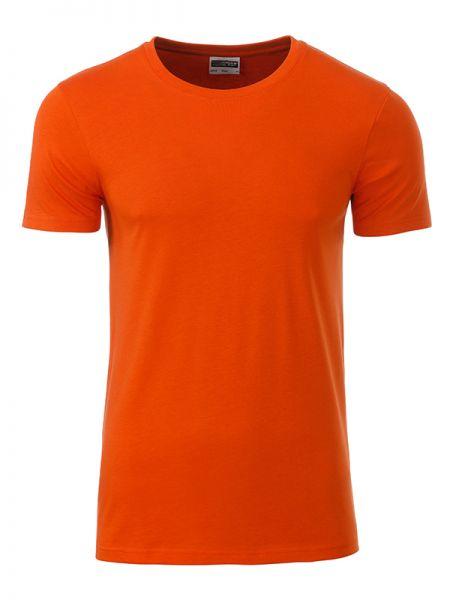 Herren Shirt dark-orange Bio-Baumwolle Tradition Daiber