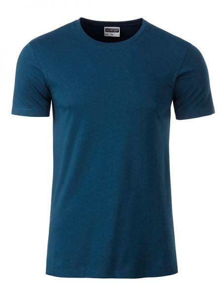 Herren Shirt petrol Bio-Baumwolle Tradition Daiber