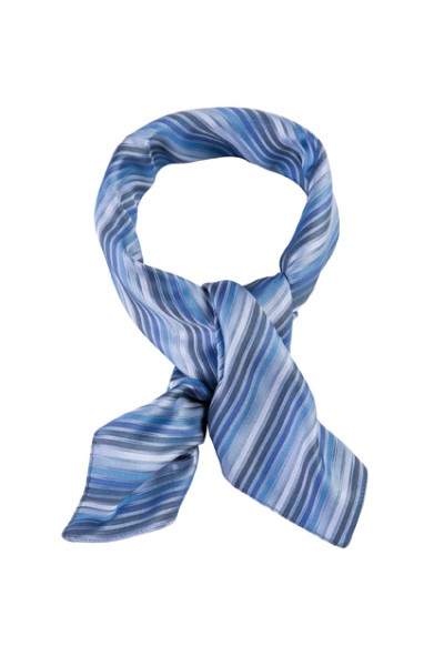 GREIFF - style 6901 Tuch 70x70 gestreift blau