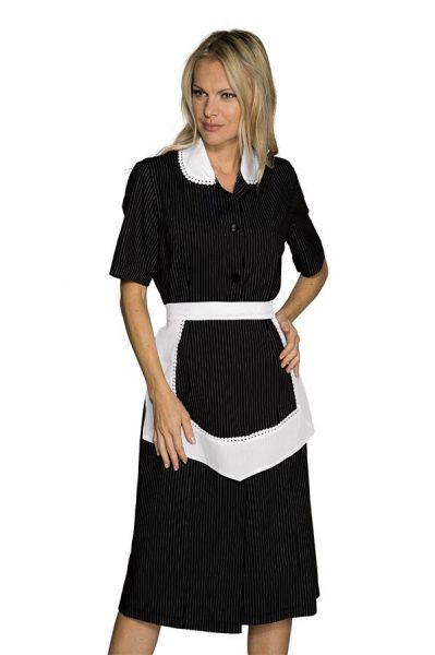 isacco Zimmermädchenkleid Antille kurzarm in schwarz