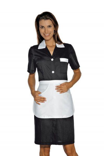 Zimmermädchenkleid schwarz mit Schürze Positano isacco