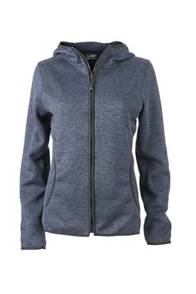 Damen Fleece Hoody denim-melange Tradition Daiber