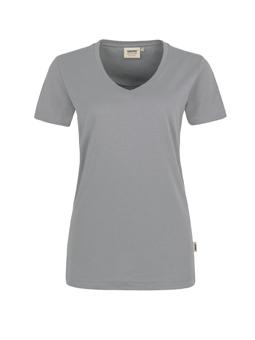 Damen Shirt in Titan mit V-Ausschnitt