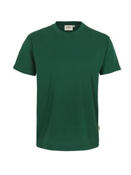Herren Shirt in Tanne mit Rundhals-Ausschnitt