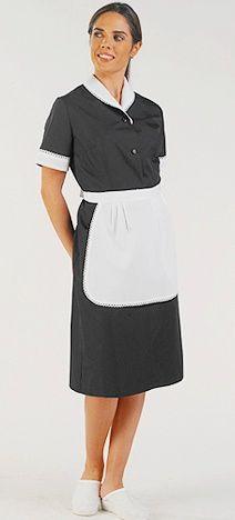 Zimmermädchenkleid schwarz Huelva Creyconfe