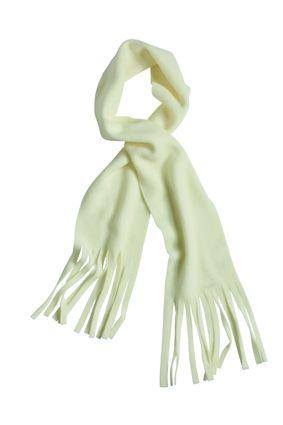 klassischer Fleece Schal weiß