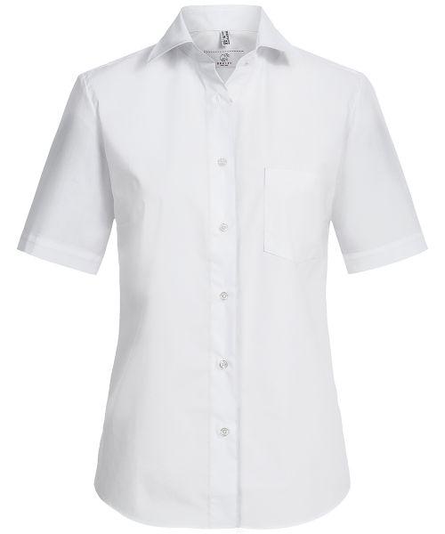 Damen Bluse comfort fit weiss Kurzarm | GREIFF Basic 6651
