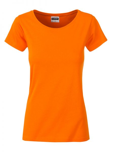 Damen Shirt orange Bio-Baumwolle Tradition Daiber