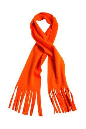 klassischer Fleece Schal orange
