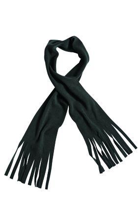 klassischer Fleece Schal schwarz