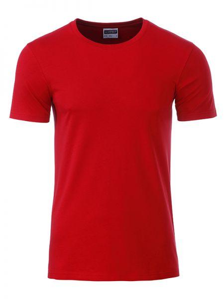Herren Shirt red Bio-Baumwolle Tradition Daiber