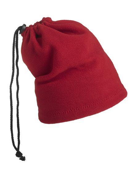 Balaclava - Mütze und Schal in einem – rot