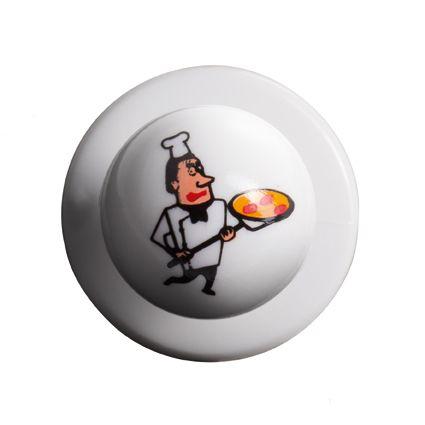 GREIFF - style 5900 Kugelknöpfe für Kochjacken - 12er Pack - Pizzabäcker