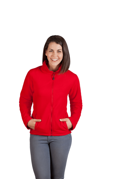 Damen Fleece Jacke rot