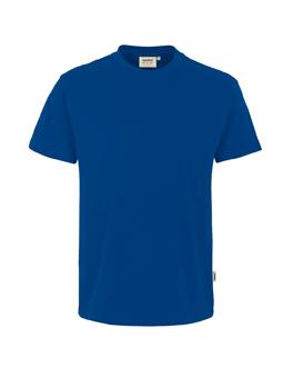 Herren Shirt in Ultramarinblau mit Rundhals-Ausschnitt