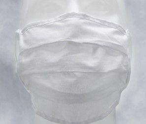 Mund-Nasen-Maske (Mundschutz) mit 4 Schnüren in weiß - waschbar bis 90° | ARDON