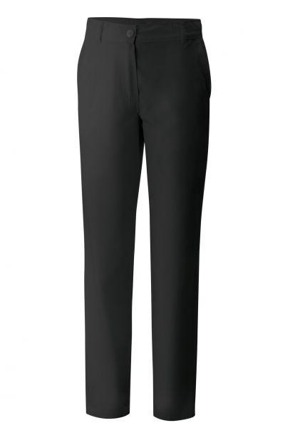 Exner Damenkochhose mit Knopf in schwarz