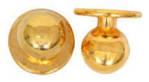 Exner Kugelknöpfe gold - 1 Pack mit 12 Stück