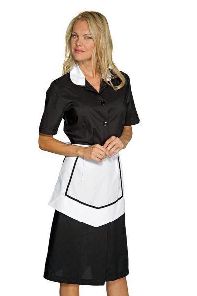 Zimmermädchenkleid schwarz kurzarm Kinshasa isacco