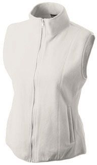 Damen Fleece Weste - off white