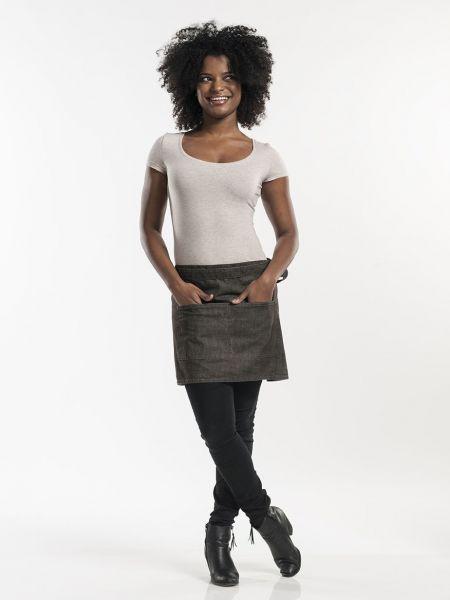 Jeans Schürze - Vorbinder 80 x 40 cm Brown Denim