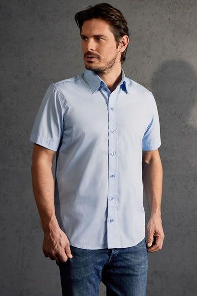 Modernes Kurzarm-Popeline Hemd für Herren | Promodoro 6300