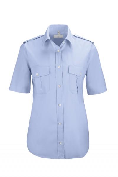 GREIFF basic - style 6658 Damen Pilothemd kurzarm comfort fit in weiß | bleu - comfort fit