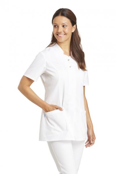 Damen Kasack in Weiß mit Kurzarm