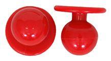 Exner Kugelknöpfe rot - 1 Pack mit 12 Stück