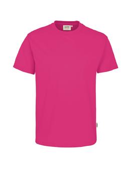 Herren Shirt in Magenta mit Rundhals-Ausschnitt